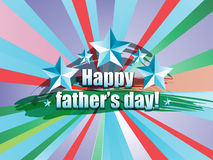 Happy Father's Day label. Happy Father's Day cup on a colorful background Stock Images