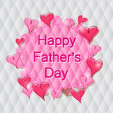 Happy Father's Day Label in Pink Heart Stock Images