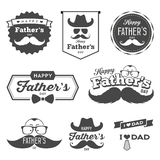 Happy Father's day labels logo black and white set royalty free illustration