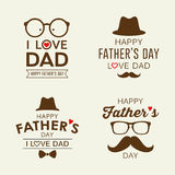 Happy Father`s day labels logo collections stock illustration