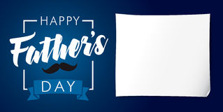 Happy Father`s Day lettering and stripes banner Stock Photography