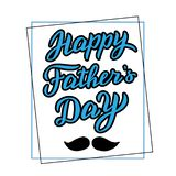 Happy father`s day lettering. Trendy greeting card. stock illustration