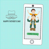 Happy father's day  with linear style symbol Stock Photo