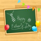Happy Father's Day message on Board Stock Images