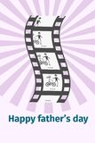 Happy Father s Day Moments on Black Film Reel Royalty Free Stock Images