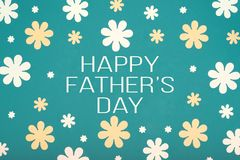 Happy Father`s Day pastel coloured background. Beautiful floral flat lay. Fathers day. Happy Father`s Day pastel coloured background. Beautiful floral flat lay Royalty Free Stock Images
