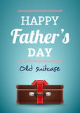 Happy Father's Day Postcard. Stock Image