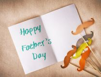 Happy father`s day. ! Postcard on light background royalty free stock image