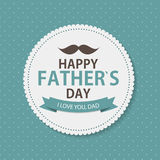 Happy Father`s Day Poster Card Background Vector Illustration Stock Images