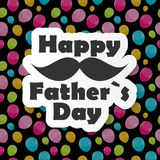 Happy Father`s Day Poster Card Vector Illustration Royalty Free Stock Image