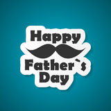 Happy Father`s Day Poster Card Vector Illustration Royalty Free Stock Photos