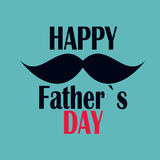 Happy Father`s Day Poster Card Vector Illustration Royalty Free Stock Images