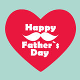 Happy Father`s Day Poster Card Vector Illustration Stock Images
