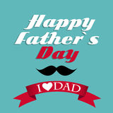 Happy Father`s Day Poster Card Vector Illustration Royalty Free Stock Photo