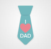 Happy Father`s Day Poster Card Vector Illustration Stock Image