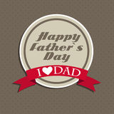 Happy Father`s Day Poster Card Vector Illustration Stock Photo