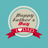 Happy Father`s Day Poster Card Vector Illustration Royalty Free Stock Photography