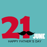 Happy Father`s Day Poster Card Vector Illustration Stock Photography