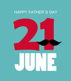 Happy Father`s Day Poster Card Vector Illustration Stock Photos