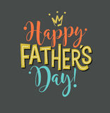 Happy Father`s Day. Retro styled calligraphy design. Stock Images