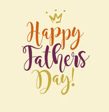 Happy Father`s Day. Retro styled calligraphy design. Stock Photos