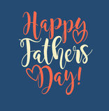 Happy Father`s Day. Retro styled calligraphy design. Royalty Free Stock Photos