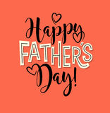 Happy Father`s Day. Retro styled calligraphy design. Royalty Free Stock Photo