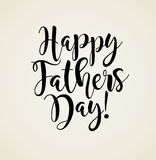 Happy Father`s Day. Retro styled calligraphy design. Stock Image