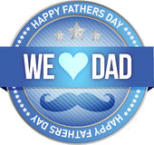 Happy father s day rubber stamp seal illustration Stock Photo
