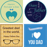 Happy father's day. Set of backgrounds and labels with text and elements for father's day. Vector illustration Royalty Free Stock Photo