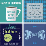Happy father's day. Set of backgrounds with text and elements for father's day. Vector illustration Stock Photo