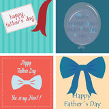 Happy father's day. Set of backgrounds with text and elements for father's day. Vector illustration Stock Image
