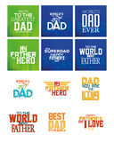 Happy father's day. Set of backgrounds for father's day. Vector illustration Royalty Free Stock Photography