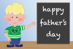 Happy Father's Day from Son Royalty Free Stock Photos