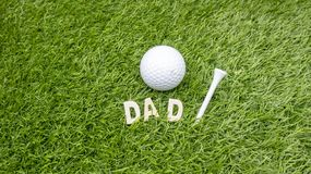 Happy Father`s day to golfer Stock Photos