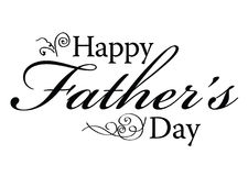 Happy Father's Day Type Royalty Free Stock Images