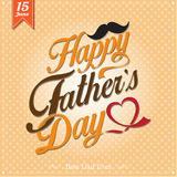Happy Father's Day Typographical Background Royalty Free Stock Images