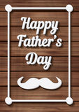 Happy Father's Day Typographical Background with moustache Royalty Free Stock Photo