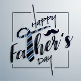 Happy Father`s Day Typography Greeting Card Royalty Free Stock Photography