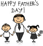 Happy Father's Day,vector Stock Images