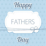 Happy Father's Day. Vector card with wine glasses on seamless chevron pattern. Royalty Free Stock Photography