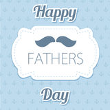 Happy Father's Day. Vector card with wine glasses on seamless chevron pattern. Royalty Free Stock Photos