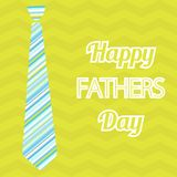 Happy Father's Day. Vector card with wine glasses on seamless chevron pattern. Stock Photography