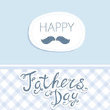 Happy Father's Day. Vector card with wine glasses on seamless chevron pattern. Stock Images