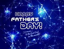 Happy father's day, vector illustration Stock Photos