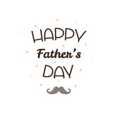 Happy Father`s day. Vector illustration. Happy Father`s day. Mustache. Vector illustration Royalty Free Stock Image