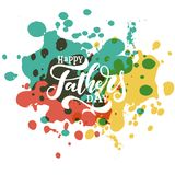 Happy father s day vector lettering background. vector illustration
