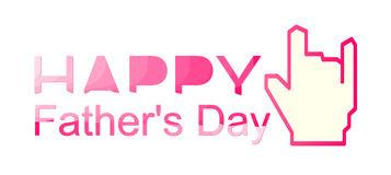 Happy Father's Day vector love Stock Photo
