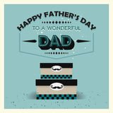 Happy Father's Day vintage card - Gift boxes Royalty Free Stock Images
