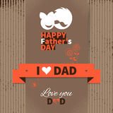 Happy Father's Day vintage retro card Stock Image